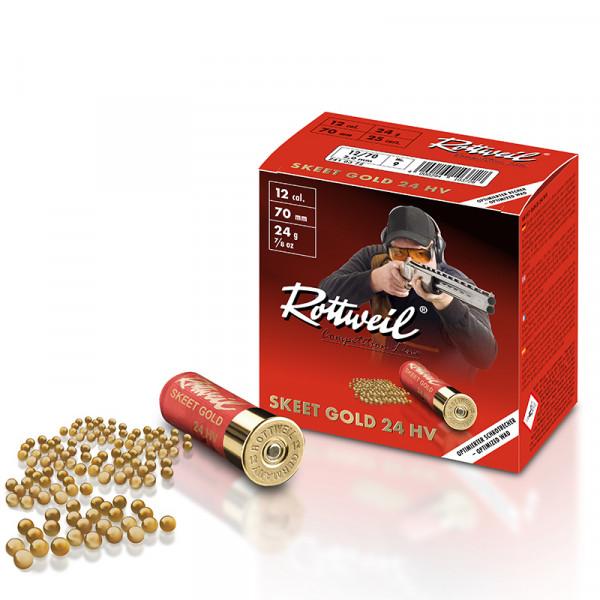 Rottweil Skeet Gold 24 HV 12/70 24g 2mm Schrotpatronen