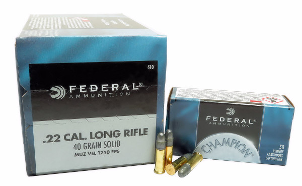 Federal Premium .22 l.r. 2,59g - 40grs Solid Kleinkalibermunition #510