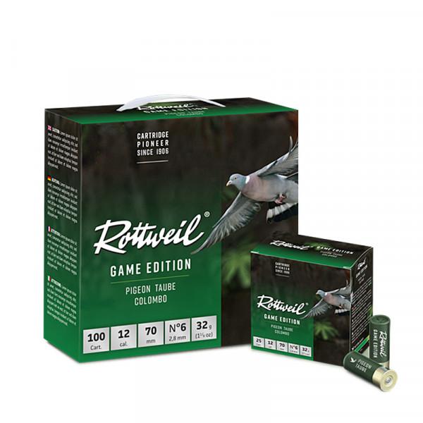 Rottweil Game Edition Taube 12/70 32g 2,8mm Schrotpatronen