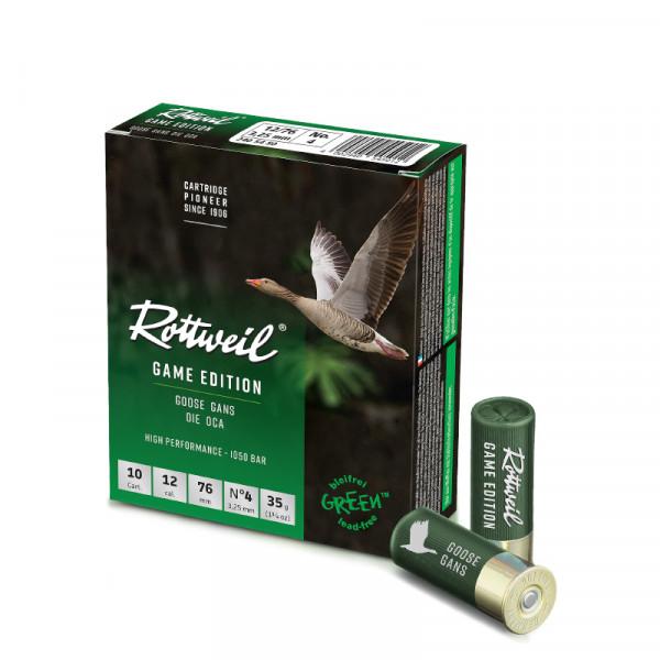 Rottweil Game Edition Gans 12/76 35g 3,25mm Schrotpatronen