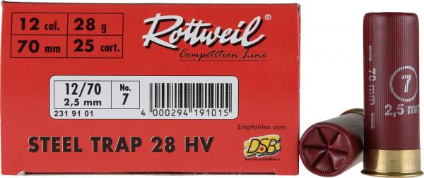 Rottweil Steel Trap 24 HV 12/70 24g 2,5mm Schrotpatronen